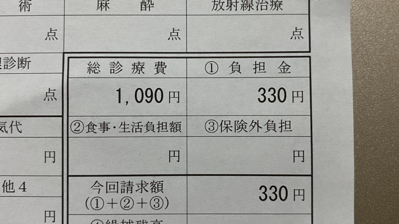 首の治療費